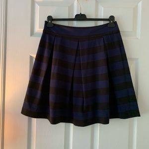 Kate Spade navy and black stripe skirt
